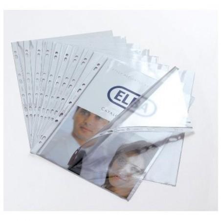 ELBA Boîte de 100 pochettes perforées Cartofix en PVC 8/100e, perforation 9 trous