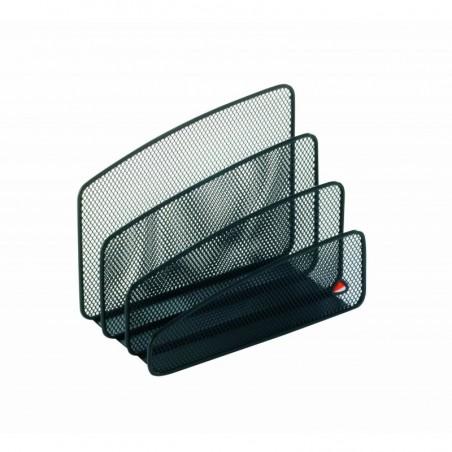 ALBA Trieur à courrier 3 compartiments en metal noir MESHLETTER N