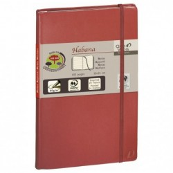 QUO VADIS HABANA Carnet de note emboité 16x24cm 224 pages lignée Couv rouge