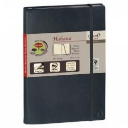 QUO VADIS HABANA Carnet de note emboité 21x29,7cm 224 pages lignée Couverture noire