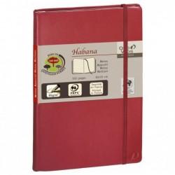 QUO VADIS HABANA Carnet de note emboité 21x29,7cm 224pages lignée Couverture rouge