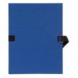 EXACOMPTA Chemise extensible Varia 2230  papier toilé grainé bleu foncé