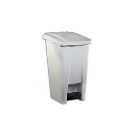 ROSSIGNOL Poubelle mobile Basic à pedale plastique blanc 60 litres