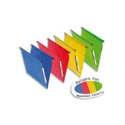 L'OBLIQUE AZ OBLIQUE AZ Pack 10 Dossiers suspendus polypro fun 330, fond 30mm assortis
