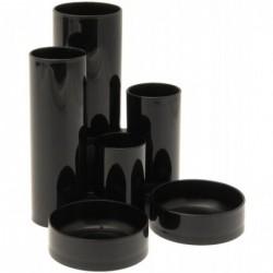 5 ETOILES Pot à crayons multifonctions 6 compartiments Noir