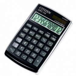 CITIZEN Calculatrice de poche CPC 112 Noir