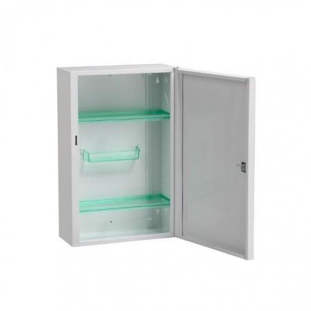 ROSSIGNOL Armoire à pharmacie acier fermeture à clef 2 étagères L31 x H45,5 x P14,5 cm blanc
