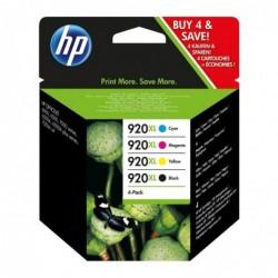 HP Multipack 920XL Cartouche d'encre d'origine Pack de 4 Noir Cyan Magenta Jaune