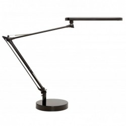 UNILUX Lampes à Led Mambo noire en ABS et alu - Bras 2 x 32 cm
