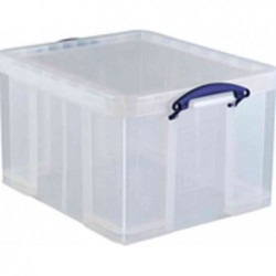 REALLY USE BOX Boîte de rangement 42 Litres + couvercle L50 x H31 x P44 cm Transparent