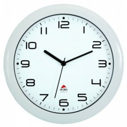 ALBA Horloge murale sielncieuse quartz à pile 1AA non fournie D30 cm Blanc