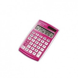 CITIZEN Calculatrice de poche 12 chiffres light laqué rose