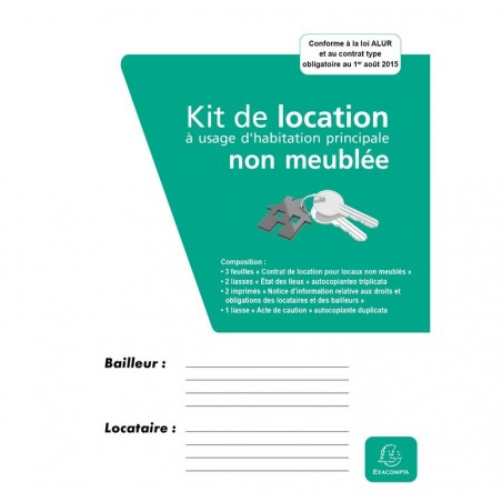 EXACOMPTA Kit dossier location non meublée  41E