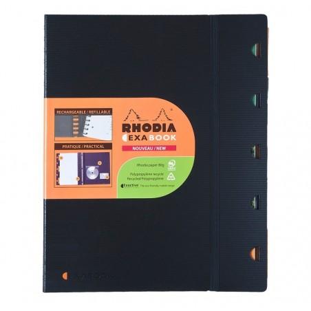 RHODIA Cahier rechargeable EXABOOK spirale A5+ 160 pages perforées+détachables 5X5