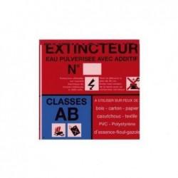 SICLI Panneau classe de feu AB eau pulvérisée avec additif 4004
