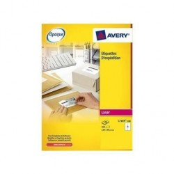 AVERY ZWECKFORM Boîte de 400 étiquettes laser blanc 99.1X139mm L7169-100
