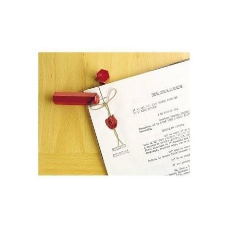 TIFLEX Boîte de 6 bâtons de 100g cire à cacheter coloris rouge banque