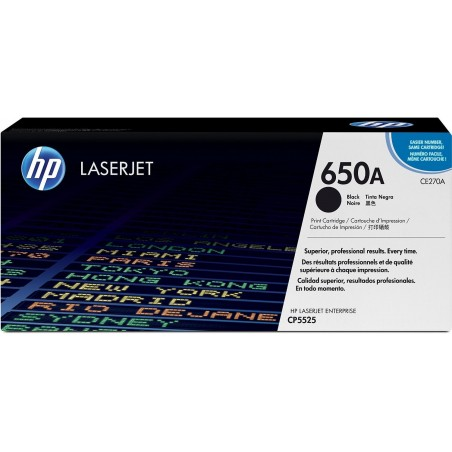 HP Cartouche Noire LaserJet CE270A