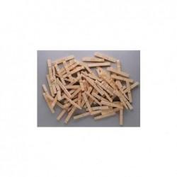 PW INTERNATIONAL Sachet de 400 Demi pince à linge bois
