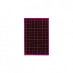 SAFETOOL Ardoise cartonnée 19 x 26 cm - Cadre plastique 1 face quadrillée
