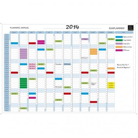 EXACOMPTA Planning annuel magnétique 90x59cm vendu en kit avec de nombreux accessoires