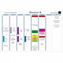 EXACOMPTA Planning hebdo magnétique 90x59cm vendu en kit avec de nombreux accessoires