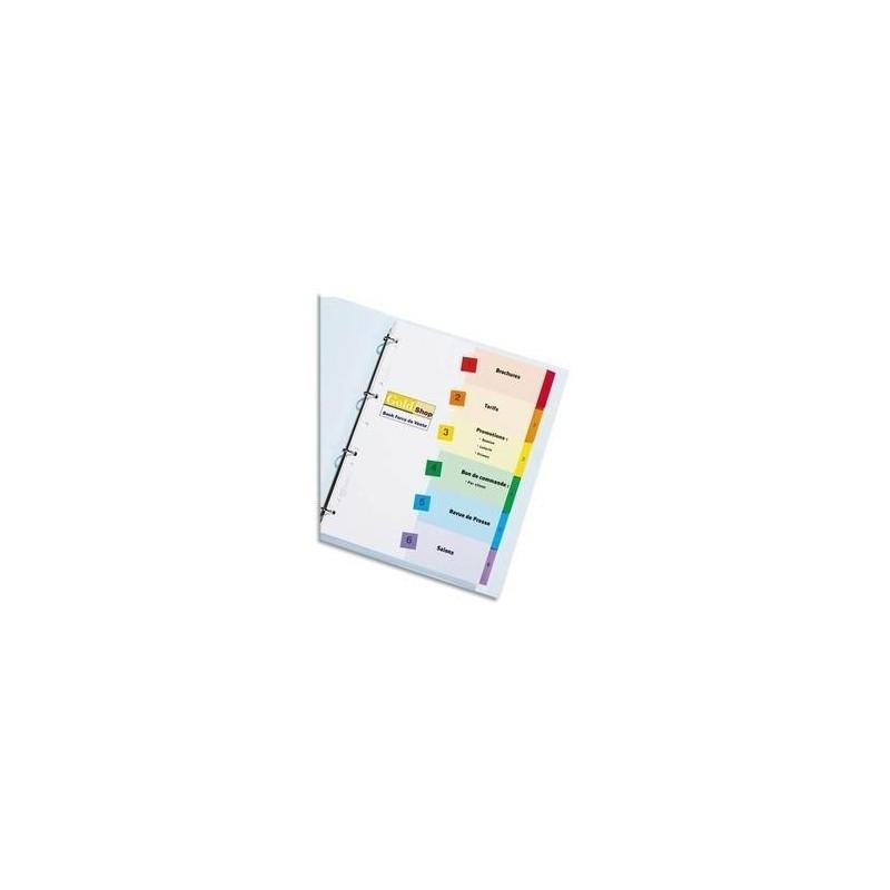 AVERY ZWECKFORM Jeu d'intercalaires numériques 12 positions pour imprimante Ready Index