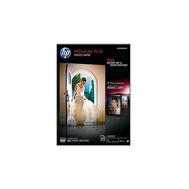 HP Boîtes 20 feuilles papier photo Premium Plus A4 finition brillant