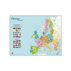 """BOUCHUT Carte murale souple pelliculée effaçable """"Europe Politique"""" 66 x 84,5 cm"""