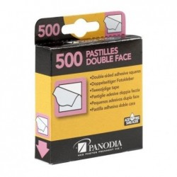 PANODIA Boîte distributrice de 500 pastilles adhésives double face