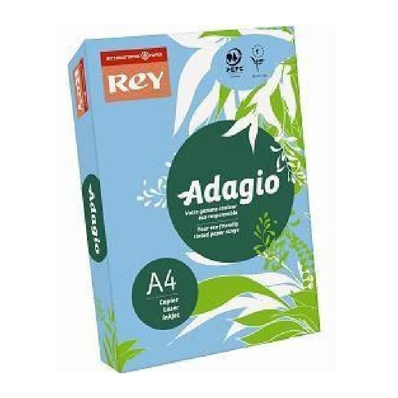 PAPYRUS Ramette de 250 feuilles Papier A3 Adagio Rey 160g couleur bleu vif