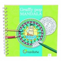 AVENUE MANDARINE Carnet spirale Graffy POP Mandala 250g Garçon
