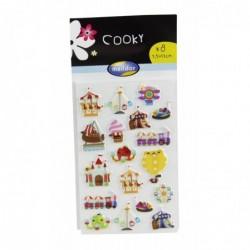 MAILDOR Stickers Déco 3d Cooky - Pochette De 160