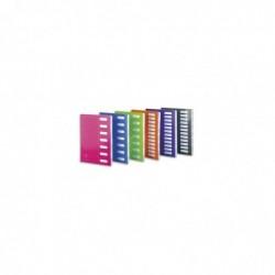 EXTENDOS Trieur sans élastique MON DOSSIER en carte. 12 compartiments. Coloris assortis.