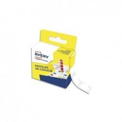 AVERY Boîte distributrice de 150 pastilles adhésives Ø15 mm. Coloris blanc.