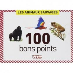 EDITIONS LITO Boîte de 100 bons points animaux sauvage