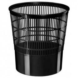 CEP Corbeille à papier ajourée Ecoline 16 litres H32 cm Noir