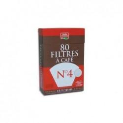 BELLE FRANCE Boite de 80 filtres à café n°4 + 1 sachet détartrant 3344