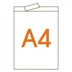 APLI Boite 50 films transparents avec bande supérieure 210 x 297 mm
