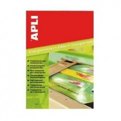 APLI Pochette 20 feuilles films transparents Jet d'encre 210 x 297 mm