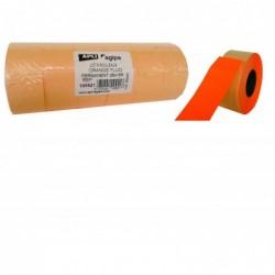 AGIPA Pack 6 rouleaux 1000 étiquettes oranges fluos rectangulaires 26X16mm
