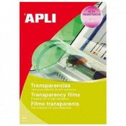 APLI Boite de 100 Films transparents photocopieur feuille à feuille A4