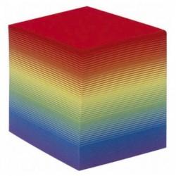 QUO VADIS QUO VADIS Bloc cube arc en ciel 9x9x9cm 700 feuilles encollées 90g PEFC