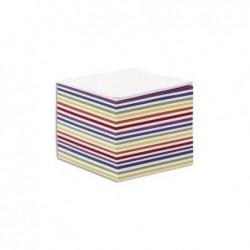QUO VADIS Recharge bloc cube blanc et couleur 9x9x7,5cm 580 feuilles mobiles 90g PEFC