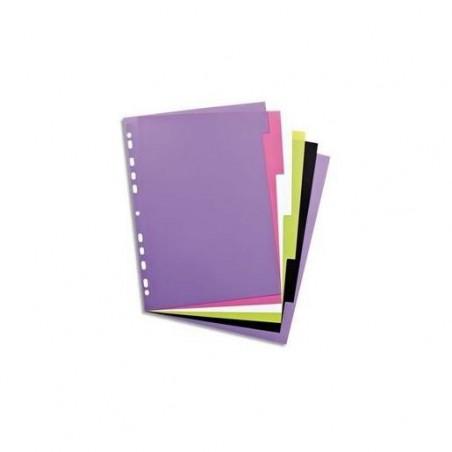 ELBA Intercalaire MY COLOUR 6 touches en polypropylène 3/10, coloris assortis