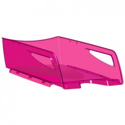 CEP Corbeille à courrier Pro Maxi Happy Hauteur 11,5 cm  Rose Translucide
