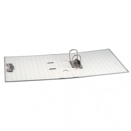 EXACOMPTA Classeur à levier en carton gris avec perforateur dos 70mm