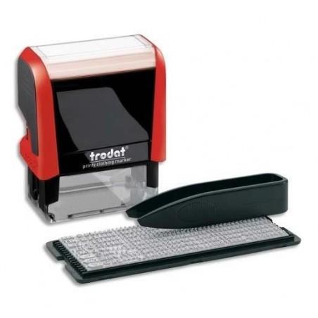 TRODAT Kit Tampon spécial textile 4951M (format 4911) avec lettres