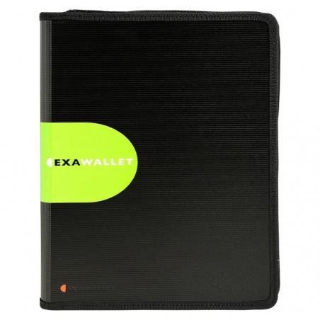 EXACOMPTA porte documents conférencier Exawallet bloc ligné + calculette Noir