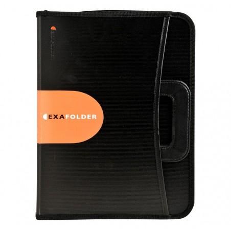 EXACOMPTA EXAFOLDER conférencier 4 anneaux 30mm Exactive Noir + bloc ligné A4